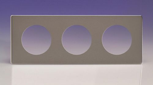 Varilight XERG3S Euro Pewter VariGrid 3 Gang Plate to fit Z1E products